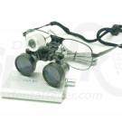 2.5x Magnification Spark Professional Dental Loupes with Black Metal Frame | Adjustable Pupil Distance Model #CM250M
