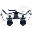 6.0 x Magnification Professional Dental Loupes Black Metal Frame and Adjustable Pupil Distance Model #DM6M