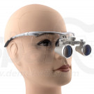 2.3 x Magnification Professional Dental Loupes Silver BP Sports Frame and Adjustable Pupil Distance Model #SH2.3