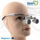 2.8 x Magnification Professional Dental Loupes Silver BP Sports Frame and Adjustable Pupil Distance Model #SH2.8