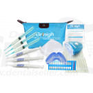 Grinigh® Unconditional Expressions Teeth Whitening System | Large Deluxe Kit with LED Light, remineralization Gel,  VE Swabs,  and Whitening Pen