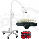 Dental LED  Bleach Lamp Tooth Beauty Bleaching Cosmetic System with 2 Goggles 20 Colors Shade Guide